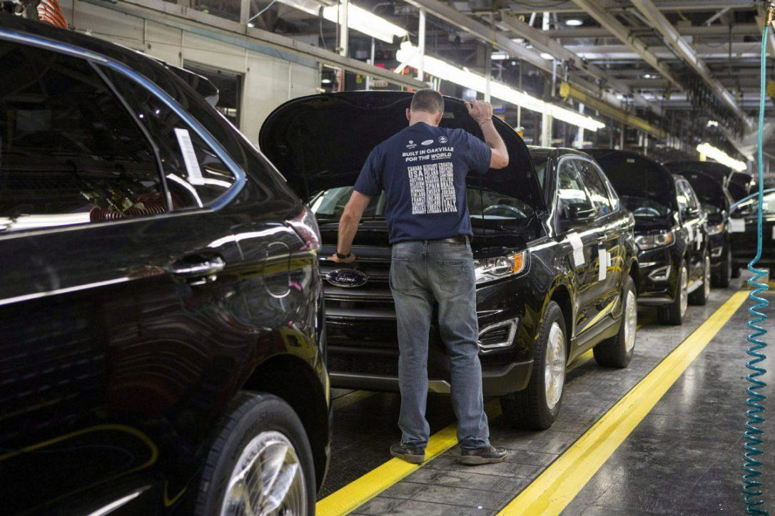 Production at Ford Canada's Oakville plant