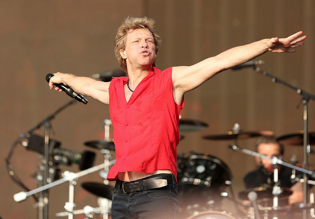Jon Bon Jovi of Bon Jovi performs live on stage during day one of 'British Summer Time Hyde Park' presented by Barclaycard at Hyde Park on July 5, 2013 in London, England.