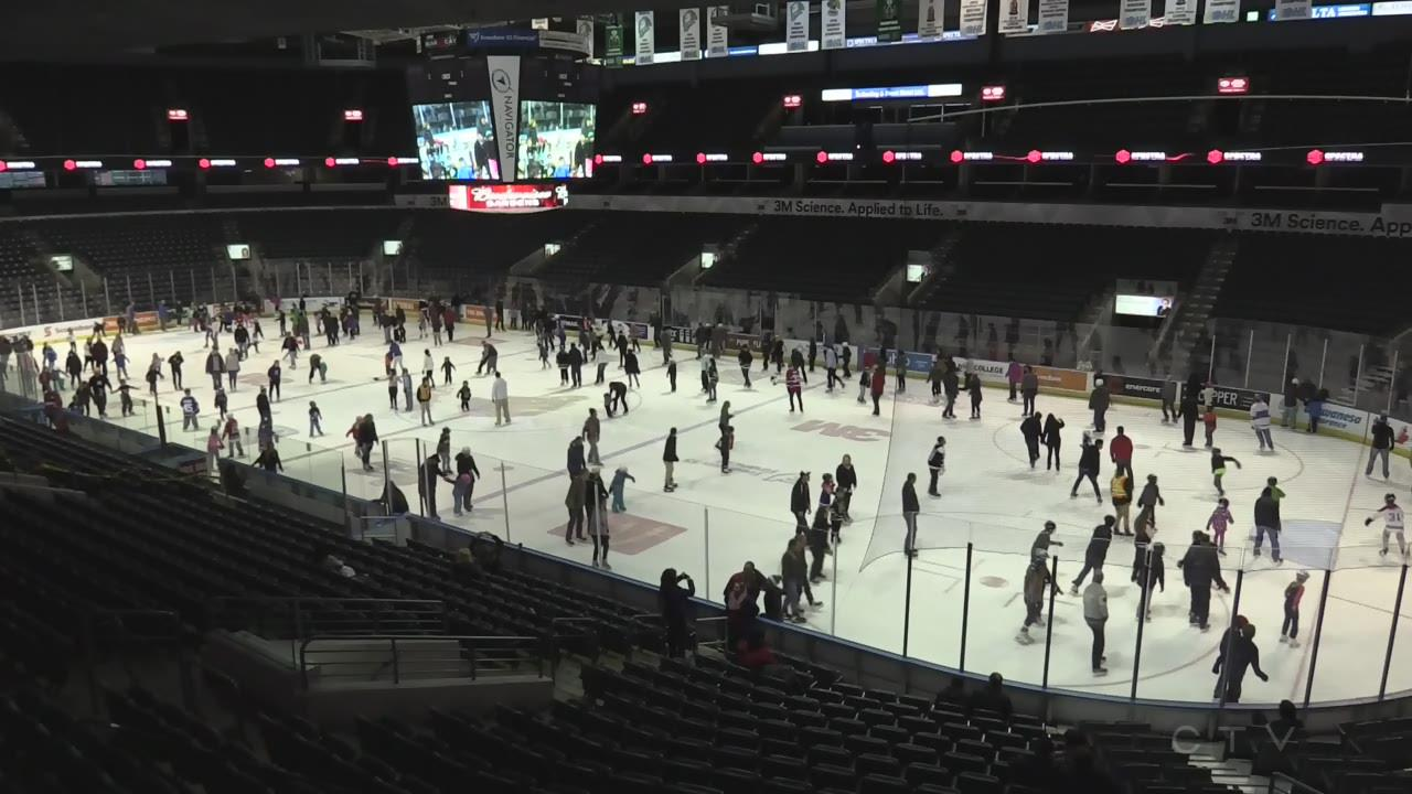 Free Public Skating At Budweiser Gardens Generates Donations For The Children S Aid