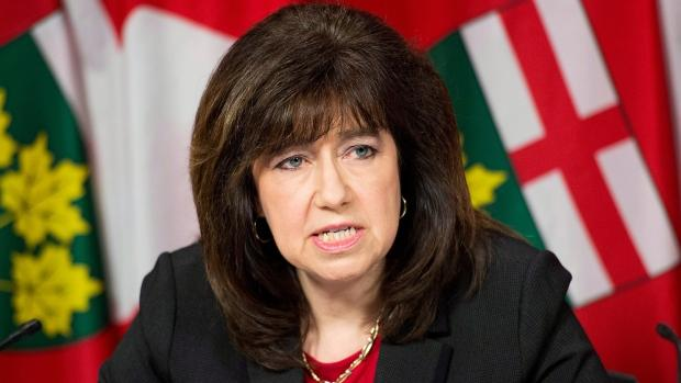 Auditor General Bonnie Lysyk delivers her 2014 report during a press conference in Toronto on Tuesday, Dec. 9, 2014.