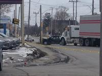 A serious two-vehicle crash on Monday, Jan. 2 has shut down a stretch of Highbury Avenue in east London.