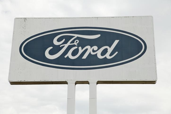 The Ford sign is seen outside of an Australian plant on November 18, 2011. (Photo via iStock/Craig Dingle)