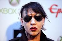 Musician Marilyn Manson arrives at the 2012 Revolver Golden Gods Award Show at Club Nokia on April 11, 2012 in Los Angeles, California.