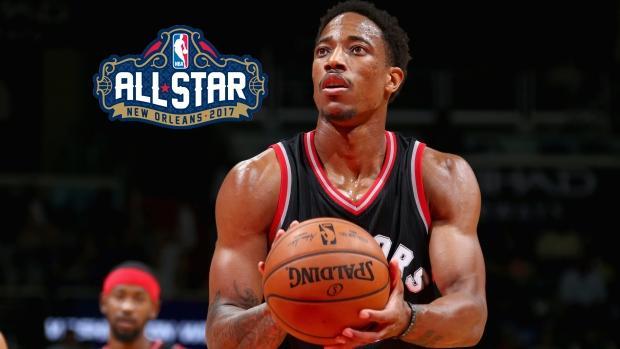 bd5af74f9ce Raptor's DeMar DeRozan named to NBA All-Star Game starting line up
