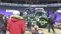 The Monster Jam shows at Budweiser Gardens in London this weekend kick off with a pit party.