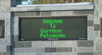 Entrance to Garrison Petawawa, Petawawa, ON. Undated.