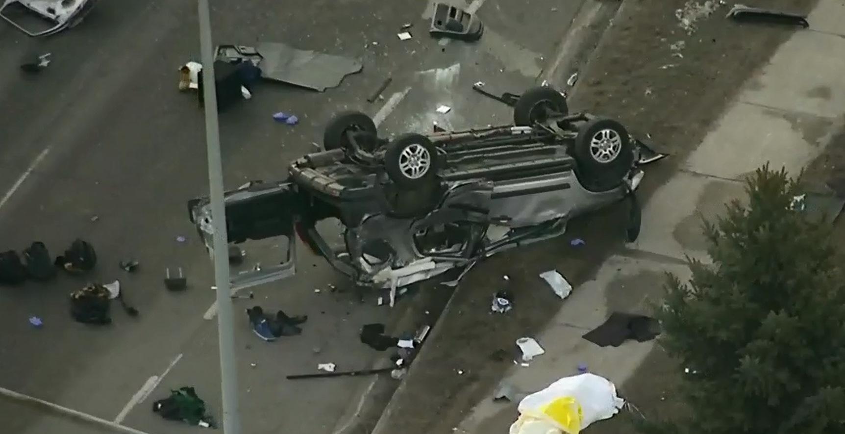 UPDATE: One dead, three hurt in three-car crash in Vaughan