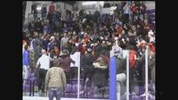 A brawl broke out in the stands following the Catholic Board championship hockey game on Thursday, March 2, 2017.