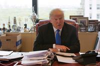 Donald Trump at his Trump Tower office