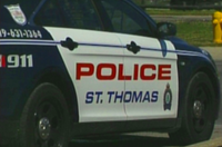 A St. Thomas man is in custody following his arrest on Friday, March 10, 2017 in which an officer was injured.