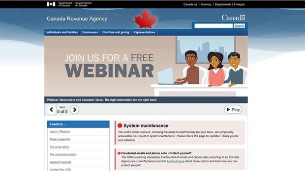 Canada Revenue Agency Online Services Down Since Friday
