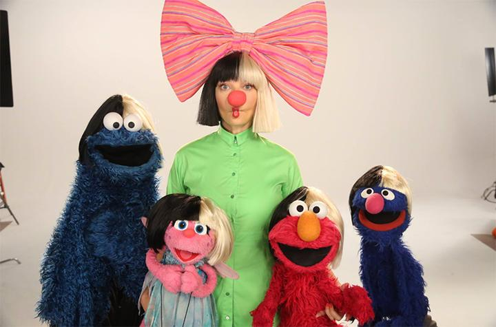 WATCH: Sia Sings Song About Songs On Sesame Street