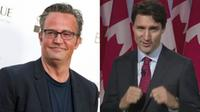 Actor Matthew Perry and Prime Minister Justin Trudeau