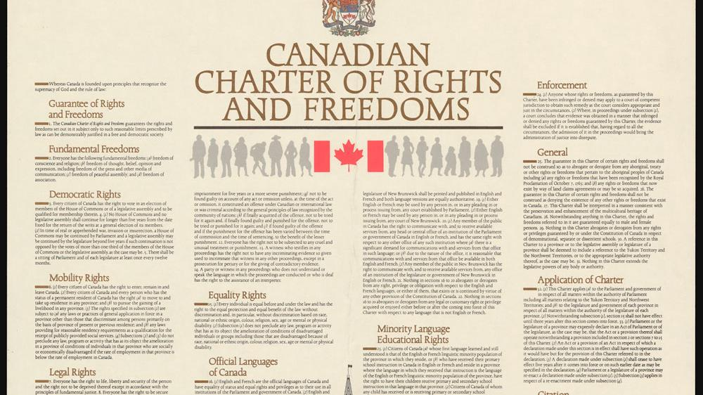 the inclusion of the notwithstanding clause in the canadian charter of rights and freedom The charter of human rights the quebec charter of human rights and freedoms and the canadian section 33 of the charter , the notwithstanding clause.