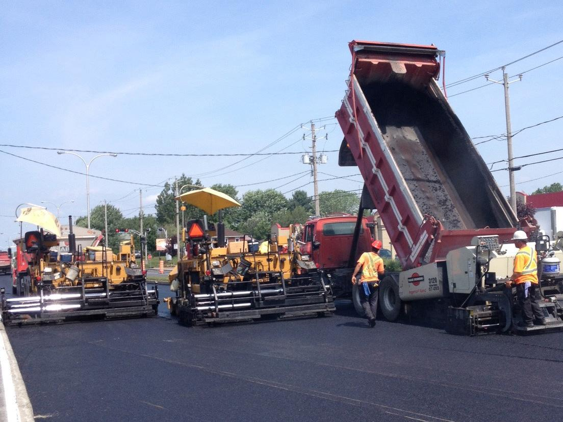 Travaux pavage (Drummondville)