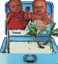 Alex's travel babies cartoon