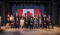 Members of the Nova Scotia Executive Council sworn in June 15. Front row, left to right, Karen Casey, Keith Colwell, Leo Glavine, Kelly Regan, Premier Stephen McNeil, Lt.-Gov. J.J. Grant, Geoff MacLellan, Zach Churchill, Randy Delorey, Tony Ince. Back row, Lena Metlege Diab, Labi Kousoulis, Mark Furey, Lloyd Hines, Margaret Miller, Patricia Arab, Iain Rankin, Derek Mombourquette.