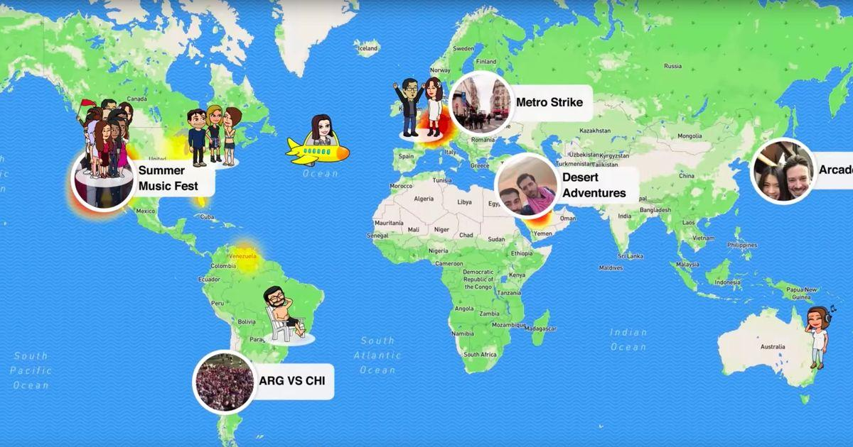 This New Snap Chat Map Feature Is SO Cool And SO Creepy Chat Map on