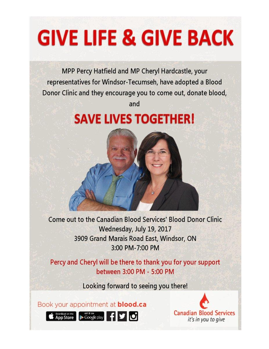 Local Politicians Asking Public To Give Blood