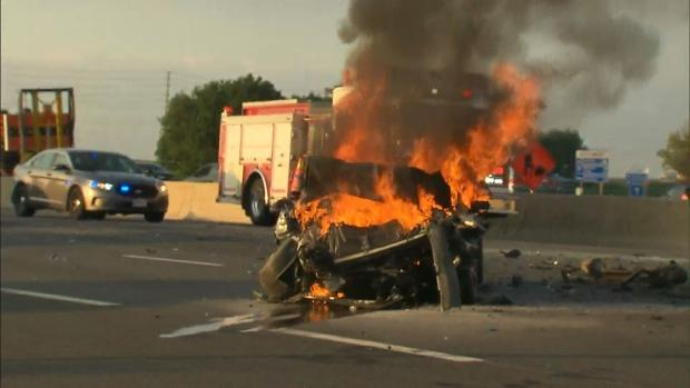 Fiery crash on highway 400 claims one life