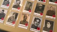 Seen here: photos of Canadian soldiers who fought in the battle of Dieppe. It is part of an exhaustive research project put together by a Barrie woman to honour the men. (CTV Barrie Katherine Ward)