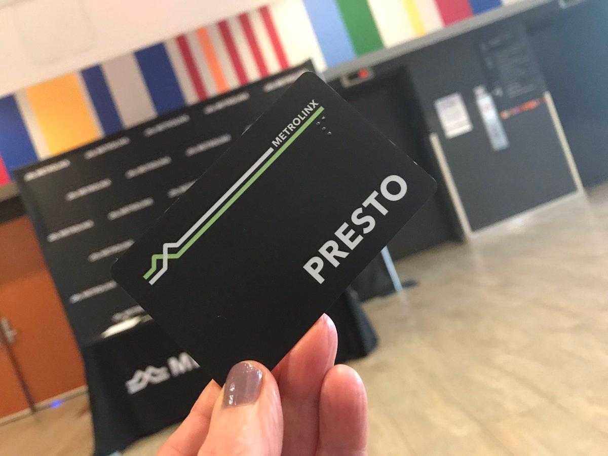 New design black Presto card