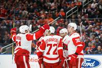 AM800-Sports-NHL-Red Wings-Goal-Celebration-November 5-2017