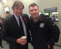Hockey legend Wayne Gretzky and Max 104.9 morning show host Jeff Long