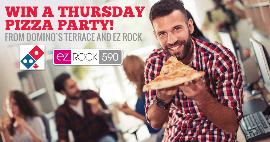 EZ Rock Terrace - Dominos Pizza Party - Pizza Contest Banner 945
