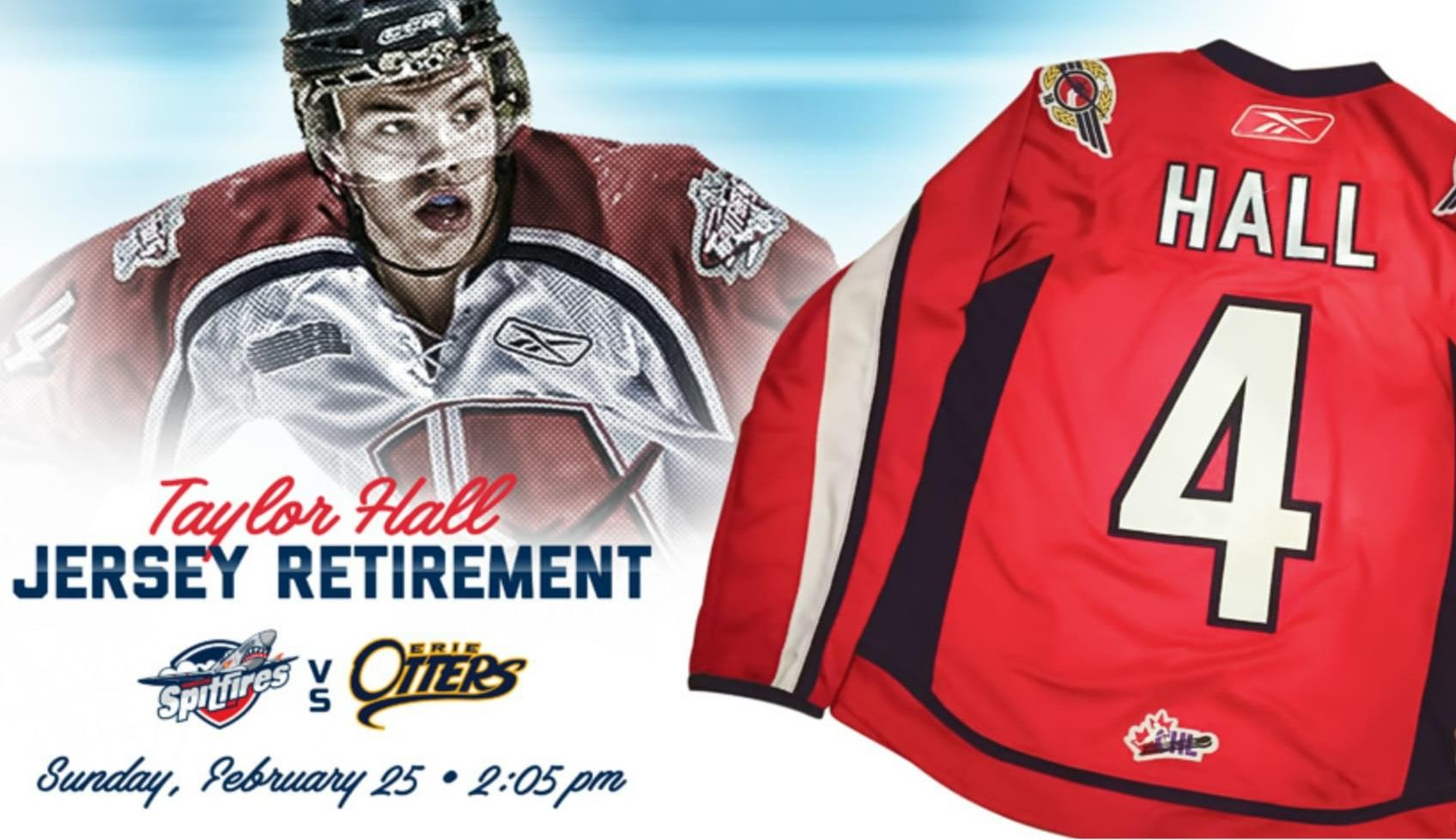 premium selection aad34 6cc63 Spitfires To Retire Taylor Hall's Jersey In The New Year