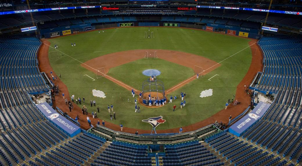 Rogers Centre during batting practice