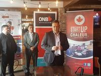 Paolo Fongemie - Mayor of Bathurst, Bernard Cormier - Chaleur Region Economic Development, Denis Roy - StartUp Chaleur President