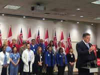 Charles Sousa says his intent was to acknowledge their tremendous work