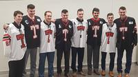 Graduating members of the Truro Jr. A Bearcats pose for a photo following the season-ending banquet. (Staff photo)