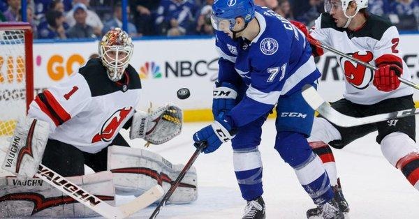 new arrival a39fb 0d0b4 Lightning Strikes Devils In Playoff Opener