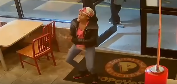 VIDEO: A Woman Destroyed a Popeys Chicken Window