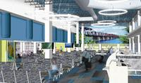 A render of the proposed Fredericton International Airport terminal building expansion. (Submitted/Fredericton International Airport Authority)