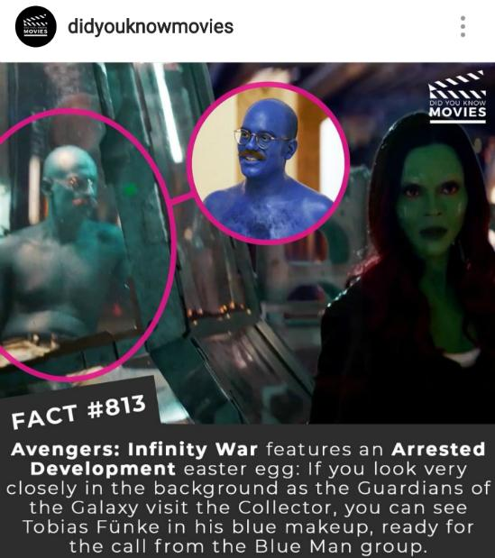 just the facts : the arrested development tie-in during infinity war