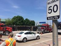am800'news-flipped-truck-speed-sign-may-2018
