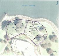 A map showing three remediation zones at Laurel Point.