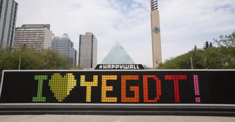 The Happywall Yeg S Latest Art Installation
