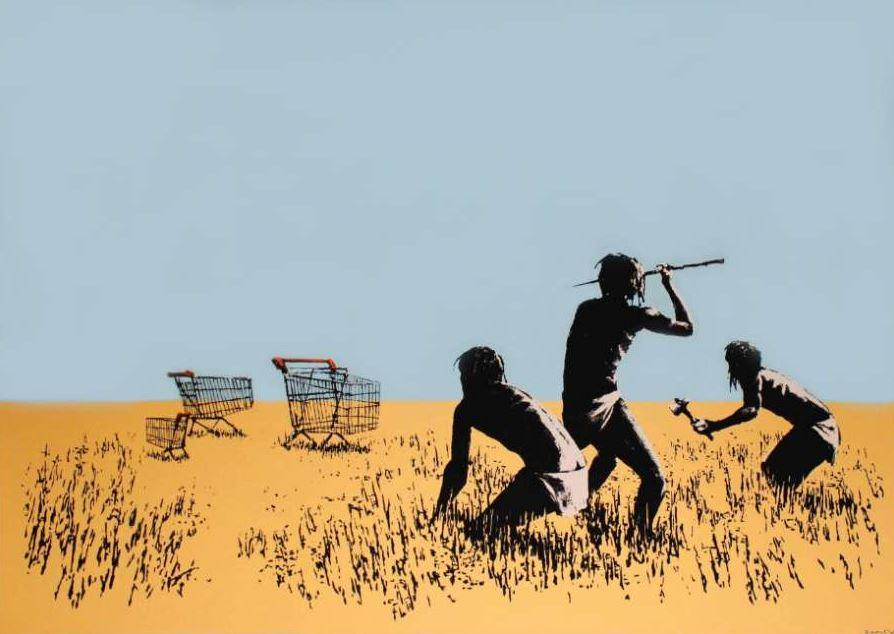 Trolley Hunters by Banksy