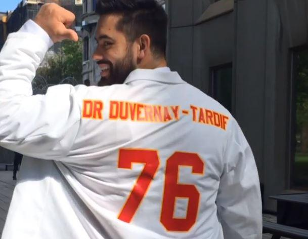 a41306da NFL denies Laurent Duvernay-Tardif's request to add 'M.D.' to jersey