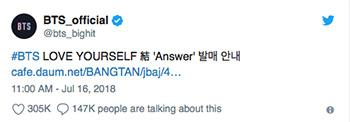 Bts Announce Extended Album Love Yourself Answer