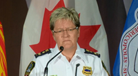 Fredericton Police Force Chief Leanne Fitch speaks to the media regarding a shooting in the city's north end on Friday, August 10th, 2018. (via CTV News)