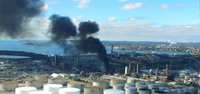 Irving Oil Refinery Fire. Photo: CTV News