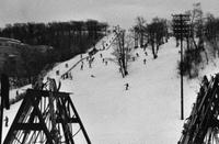 Skiers on Mount Royal