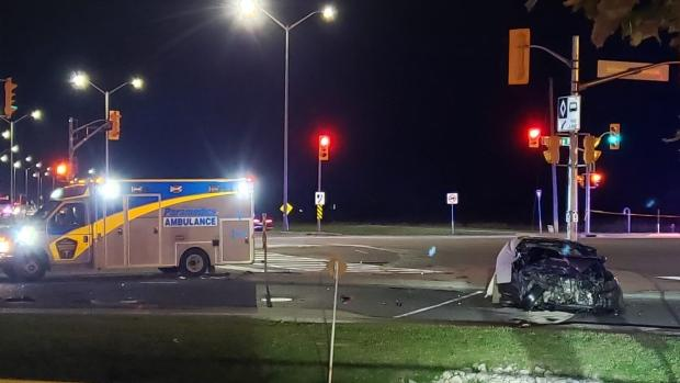 One person killed in two-vehicle collision in Brampton overnight