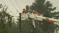 NB Power crews working on lines after wind storm (CTV Atlantic photo)