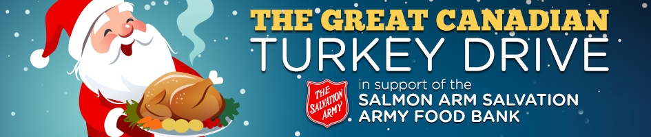 EZ Rock Salmon Arm - Great Canadian Turkey Drive - 2018 - Front page banner